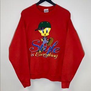 Vtg '96 Tweety Bird Crewneck